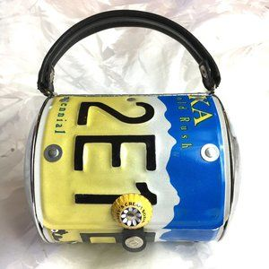 Littlearth recycled Alaska license plate purse